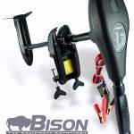 Bison - Motor eléctrico fuera de borda con hélice de repuesto de 3 palas (68 ft / lb 12v)